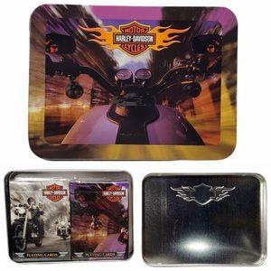 NWT Harley Davidson Playing Cards Metal Tin Case